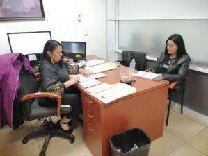 Reunion Gabriela Romero Reza, coordinadora regional de la Comisión Estatal de Atención a Víctimas